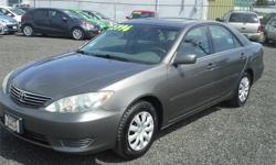 Make Toyota Model Camry Year 2005 Colour Grey kms 159100 Trans Automatic Price: $5,996 Stock Number: c9180a Cylinders: 4 - Cyl Fuel: Gasoline BC Car, clean carproof, mechanically inspected, 4 cylinder fuel economy &Toyota reliability. - Sunroof,