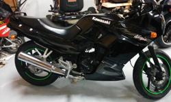 250cc. 2 cyclinder, new tires, low klm. runs great . Amazing on fuel very light great beginner bike or to ride to work.