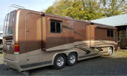 Price: $259,995 Stock Number: P2578 Fuel: Diesel Absolute beauty, this low mileage top of the line coach has been inside stored its entire life. It is equipped with the very best in all departments, an absolute must see. Allison HD4000MH 6-SPEED