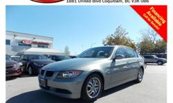 Trans Automatic 2006 BMW 323i with power locks/windows/mirrors, leather interior, steering wheel media control, Bluetooth, sunroof, A/C, CD player, AM/FM stereo, rear defrost and so much more! STK # 76103A DEALER #31228 Need to finance? Not a problem. We