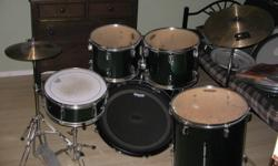 Looking to sell a 5 piece cb drum set with hihat and crash/ride cymbal. Shells are in excellent condition, a bit of scratching on the bass drum hoop, but other than that its excellent. Pieces included are a 22 inch bass drum, 16 inch floor tom, 14 inch