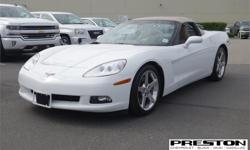 Make Chevrolet Model Corvette Year 2006 Colour White kms 38732 Price: $34,995 Stock Number: 7001032 This is the Corvette you have been waiting for! 6.0 ltr and 400 hp, 6 speed, preferred equipment group - heads up display, memory package, power telescopic
