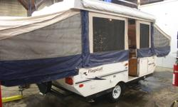 2006 flagstaff tent trailer with slide, heated mattresses, toilet and shower, heat,thee burner stove sink awning,2300 lbs dry weight, power pop up. first 5900 takes call ROD for more info 250-551-3673