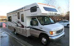 This beautiful & nicely sized class C motorhome is on ford chassis with a ford triton 6.8l V10 W/305 hp, dual airbags, 4 wheel anti-lock brakes, automatic 5 speed transmission. It has only 17.348 miles on it. This coach comes with a rear corner bed 52x74