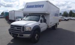Make Ford Model F-550 Year 2006 Colour White kms 169164 Price: $7,850 Stock Number: BC0027527 Interior Colour: Tan Cylinders: 8 Fuel: Diesel 2006 Ford F-550 Cube Van Dually Diesel 2WD, 6.0L, 8 cylinder, 2 door, automatic, RWD, cruise control, air