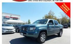 Trans Automatic 2006 Honda Ridgeline EX-L has alloy wheels, leather interior, power windows/locks/mirrors/seats, steering wheel media controls, sunroof, dual control heated seats, after market CD player, A/C, AM/FM radio, rear defrost and more!!! STK #