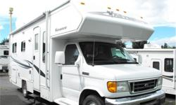 Price: $45,000 Stock Number: I2047 Fuel: Diesel Here is a well maintained 24' Class C Motor Home. It includes awning, microwave, stainless steel wheels and air conditioning. Its the most popular floor plan with the set up rear bed. It sit on Ford's E-450