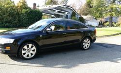 Make Audi Colour Black Trans Automatic kms 162000 Beautifully Maintained Black and Tan Audi A6. Leather, Power everything, sunroof. Brakes done last year, Tires 18 months old. All Maintenance done with a local Audi shop, have records.
