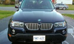 Make BMW Model X3 Year 2007 Colour blue kms 162500 Trans Automatic Fully loaded, good winter tires. Automatic, four wheel drive. Downhill assist,. Leather heated seats. Sunroof. All options, no issues, runs great. Phone # is a landline, please do not