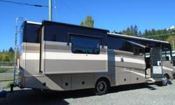 This beautiful Class A has a bright, big and open floor plan. Tour North America in style and comfort. Bounder still builds this floor plan because of how popular and great it is. This RV is great savings over a new one. Work horse chassis, 8.1 L G.M.,