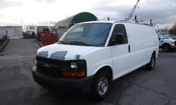 Make Chevrolet Year 2007 Colour white Trans Automatic kms 93921 Stock #: BC0030686 VIN: 1GCHG39U871124687 2007 Chevrolet Express G3500 Extended Cargo Van with Ladder Rack, Bulkhead Divider, Rear Shelving and Generator, power blower / heater 6.0L, 8