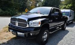 Make Dodge Model Ram 3500 Year 2007 Colour Black kms 138095 Trans Automatic Wow what a clean loaded up truck! Navigation, Rear Entertainment, Power Group, Cruise Control, Heated Leather Seats, Chrome Alloys, All Weather Mats, and more. Under the hood we