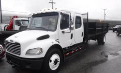 Make Freightliner Year 2007 Colour White Trans Automatic kms 144636 Stock #: BC0029837 VIN: 1FVACWCS47HY00893 2007 Freightliner M2 106 Crew Cab Flat Deck Diesel, 6.4L, 6 cylinder, 2 door, automatic transmission, 4X2, air conditioning, AM/FM radio, white