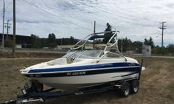 2007 Glastron ski boat 20.5 ft long Volvo 5.0 GXI with SXi leg stainless twin prop 270HP front and rear swimming ladders with extended rear swim grid full premium sound system 6 storage compartments along with in floor ski storage Wake tower with bimini