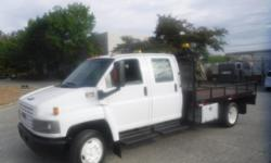 Make GMC Year 2007 Colour White Trans Automatic kms 155032 Stock #: BC0030351 VIN: 1GDE4E1G07F421660 2007 GMC 4500 C4E042 Crew Cab 12 Foot Flat Deck, 8.1L, 8 cylinder, 4 door, automatic, RWD, AM/FM radio, power door locks, white exterior, gray interior,