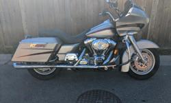 Make Harley Davidson Rides like a dream purrs like a kitten bought last year from Barnes they put new tires on it and some new brake lines and made sure everything was good. Oil change at the start of the season. Has 70k on a 103 stage 3 engine lots of