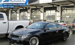 Make Infiniti Model G35 Coupe Year 2007 kms 140000 Trans Manual Price: $10,900 Stock Number: Z5168A VIN: JNKCV54E07M902859 Engine: 3.5L V6 Cylinder Engine Fuel: Gasoline Check out our large selection of pre-owned vehicles today! Compare at $11227 - Our