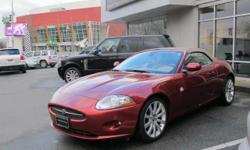 Make Jaguar Model XK Series Year 2007 Colour RED kms 78586 Trans Automatic CALL WADE FOR APPOINTMENT OR TEXT 250 514 92554.2 Litre 8 cylinder engine 6 Speed Automatic Transmission Rear wheel drive 300 HP @ 6000 rpm 310 ft-lbs @ 4100 rpm 4 wheel disc