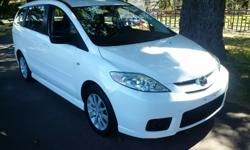 Make Mazda Model 5 Colour White kms 91800 One owner local vehicle, with low km and a very rare manual .This vehicle has air conditioning, power windows, power locks,power mirrors, alloy wheels and much .One owner local vehicle, with low km and a very rare