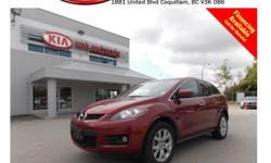 This 2007 Mazda CX-7 comes with alloy wheels, fog lights, tinted rear windows, dual exhaust, power locks/windows, sunroof, leather interior, push start engine, steering wheel media controls, backup camera, Navigation, Bluetooth, A/C, dual control heated