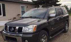 Make Nissan Colour Grey kms 258000 For sale by owner is a 2007 Nissan Armada in excellent condition. It comes fully loaded and ready for the winter season. It has a spacious cabin with plenty of passenger space and lots of room for cargo. It is equipped