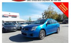 Trans Automatic 2007 Nissan Sentra SE-R with alloy wheels, power locks/windows/mirrors, A/C, CD player, AM/FM stereo, rear defrost and so much more! STK # 63091B DEALER #31228 Need to finance? Not a problem. We finance anyone! Good credit, Bad credit, No