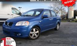 """Make Pontiac Model Wave Year 2007 Colour Blue Trans Automatic We are Canada's #1 KIA Retail Volume Dealer. Our volume purchasing power saves you money! Our motto """"we can replace vehicles, we cannot replace our customers!"""" is the reason we sell more new"""