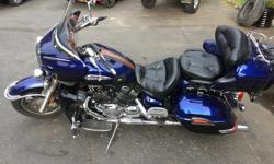 2007 Yamaha Royal Star Venture, Asking $7900 Very good condition, blue on black paint. 60.000 KM. 5 Speed transmission. The bike is equipped with the following. Low maintenance shaft drive, electronic cruise control, factory driving lights, factory 4