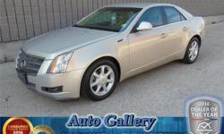Make Cadillac Model CTS Year 2008 Colour Gold kms 71600 Trans Automatic Price: $13,593 Stock Number: 21901A Engine: 3.6 L Fuel: Gasoline CASH PRICE Well maintained local trade, this gold CTS has all the bells and whistles! Great options like all wheel