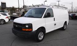 Make Chevrolet Model Express Year 2008 Colour White kms 212023 Trans Automatic Stock #: BC0030836 VIN: 1GCGG25C581161684 2008 Chevrolet Express 2500 Cargo Van with Bulkhead Divider, Ladder Rack and Rear Shelving, 4.8L, 8 cylinder, 3 door, automatic, RWD,
