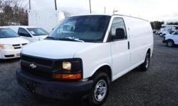 Make Chevrolet Year 2008 Colour White Trans Automatic kms 183225 Stock #: BC0030706 VIN: 1GCGG25C881136780 2008 Chevrolet Express 2500 Cargo Van with Rear Shelving, 4.8L, 8 cylinder, 2 door, automatic, RWD, 4-Wheel AB, AM/FM radio, Air conditioned, white