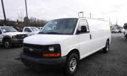 Make Chevrolet Model Express Year 2008 Colour White kms 232895 Trans Automatic Stock #: BC0030705 VIN: 1GCGG29C481201926 2008 Chevrolet Express 2500 Extended Cargo Van with Rear Shelving and Bulkhead Divider, 4.8L, 8 cylinder, 2 door, automatic, RWD,