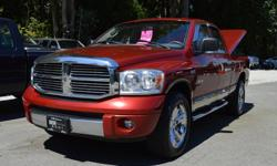 Make Dodge Model Ram 1500 Year 2008 Colour red kms 111064 Trans Automatic Revised Clearance Sale Priced from $23,995 to $19,995 !!! What a beautiful truck, 4-Wheel Drive 5.7L V8 Hemi engine. Comes with colour matched canopy, Chrome Alloys, Heated Seats,