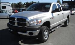 Make Dodge Model Ram 2500 Year 2008 Colour Silver kms 71553 Price: $18,970 Stock Number: BC0027828 Interior Colour: Grey Cylinders: 8 Fuel: Gasoline 2008 Dodge Ram 2500 Laramie Quad Cab Long Box 4WD, 5.7L, 8 cylinder, 4 door, automatic, 4WD, 4-Wheel ABS,