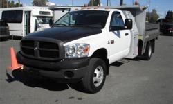 Make Dodge Model Ram 3500 Year 2008 Colour White kms 61197 Price: $27,800 Stock Number: BC0027822 Interior Colour: Grey Cylinders: 8 Fuel: Diesel 2008 Dodge Ram 3500 Regular Cab 2WD Cummins Diesel with hydraulic Dump Box, 6.7L, 8 cylinder, built-in engine