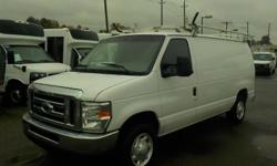 Make Ford Year 2008 Colour White Trans Automatic kms 192611 Stock #: BC0030559 VIN: 1FTNE14W98DA16522 2008 Ford Econoline E-150 with Ladder Rack and Rear Shelving, bulkhead partition 4.6L, 8 cylinder, 2 door, automatic, RWD, 4-Wheel AB, AM/FM radio, white