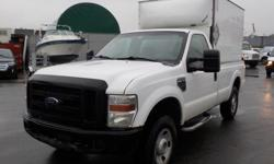 Make Ford Model F-250 SD Year 2008 Colour White kms 289282 Trans Automatic Stock #: BC0030586 VIN: 1FTNF21558ED79604 2008 Ford F-250 SD XL Long Box Cube 4WD, 5.4L, 8 cylinder, 2 door, automatic, 4WD, 4-Wheel AB, cruise control, air conditioning, AM/FM