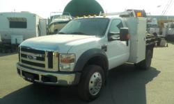 Make Ford Year 2008 Colour White Trans Manual kms 98160 Stock #: BC0029420 VIN: 1FDXF46R28EA14230 2008 Ford F-450 SD Regular Cab Dually Diesel 6 Foot Flat Deck Service box with drawers, heavy duty winch on the flat deck, manual transmission, 2WD, 6.4L,