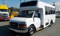 Make GMC Model Savana Year 2008 Colour White kms 300630 Trans Automatic Stock #: BC0030390 VIN: 1GDJG316281227051 2008 GMC Savana G3500 13 Passenger Bus with Wheelchair Accessibility Diesel, 6.6L, 8 cylinder, 2 door, automatic, RWD, cruise control, air