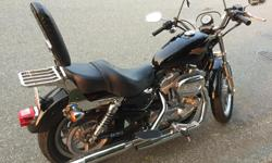 Make Harley Davidson Model Sportster Year 2008 kms 25000 HD Sportster 883 in very good shape. Some extras installed as a back seat support, rear rack, passenger footboards, windshield. Engine oil and transmission oil just changed. If interested just