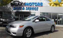Make Honda Model Civic Year 2008 Colour Silver kms 111527 Trans Manual Price: $9,995 Stock Number: N20814 Interior Colour: Grey Galaxy Motors is the #1 used car dealership on Vancouver Island with 5 locations to serve you in Colwood, Duncan, Nanaimo,
