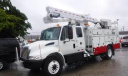 Make International Year 2008 Colour White kms 158181 Stock #: BC0030008 VIN: 1HTMMAAN18J552623 2008 International 4300 Durastar Bucket truck, Air Brakes, Diesel 7.6L, 4X2, automatic transmission, white exterior, gray interior. Inspection decal expires May