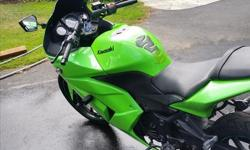 I am selling my 2008 Kawasaki Ninja 250. This was my first bike and was great for commuting. Cheap on gas, light weight, very agile and speedy. The lime green is great for being visible and detectable on the roads. Great for beginners and a very fun bike!