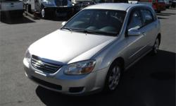 Make Kia Model Spectra5 Year 2008 Colour Silver kms 142661 Price: $4,200 Stock Number: BC0027787 Interior Colour: Grey Cylinders: 4 Fuel: Gasoline 2008 Kia Spectra5 LX, 2.0L, 4 cylinder, 4 door, automatic, FWD, Non-ABS, cruise control, air conditioning,