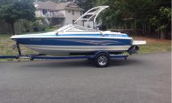 boat is in excellent condition. 4.3 Volvo motor, was replaced in 2012 new.kids have all moved out ,there is skis,wake boards, knee boards,tubes and life jackets to go with boat. Replacement for stuff well over 5000 dollars. Upgraded stereo system