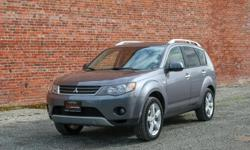 Make Mitsubishi Model Outlander Year 2008 Colour Grey kms 171000 Trans Automatic Automatic 4WD 171,*** KM 3.0L V6 No Accidents Local BC Vehicle Heated Leather Seats 3rd Row Seating Sunroof Tinted Windows Roof Rack A/C SALE PRICE: $8,998** REDUCED FROM