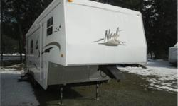 Price: $16,900 well look after mid sized fifth wheel , ready for your camping season , four seasons trailer built buy arctic foxs .