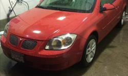 Make Pontiac Model G5 Year 2008 Colour Red kms 136000 Trans Manual Priced low to sell fast! Tinted Rear Windows, Spoiler, Manual Locks and Windows, Outside Temperature Gauge, Stereo with CD Player and Auxiliary Input, Rear Defog, Tilt Steering and 12V