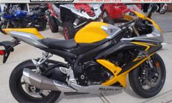2008 Suzuki GSX-R600 Sport Bike * Low kms! * $6999. A very nice and incredibly low km Gixxer! Serviced, new tires, battery, clean title, with frame protectors. Only a couple minor tip marks. Colour: Yellow. Buy with confidence from a Genuine Dealership.