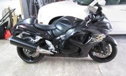 Fastest production bike in the world. Only 4,900 km. Comes with Hayabusa jacket, cover and helmet. $10,500. Its not even broken  in and is a real head turner. No  low balling